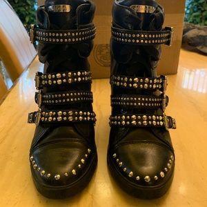 Michael Kors Studded Wedge Sneakers